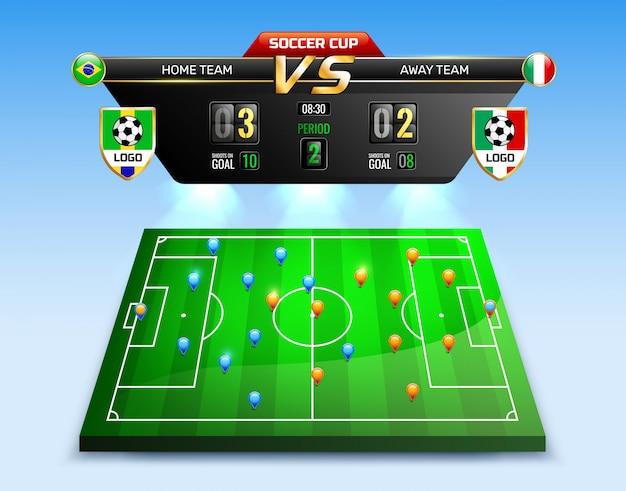 Composição da transmissão do torneio de futebol