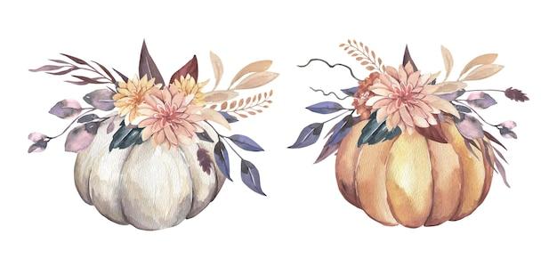 Composição de abóboras de outono