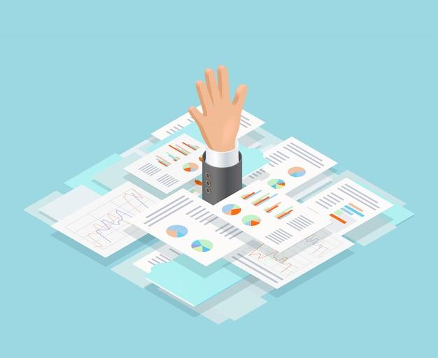 Composição de afogamento de papel de escritório