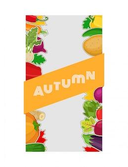 Composição de alimentos vegetais, outono