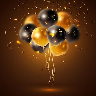 Composição de balões de férias brilhante