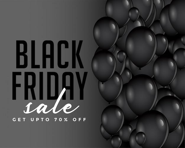 Composição de balões de sexta-feira negra moderna