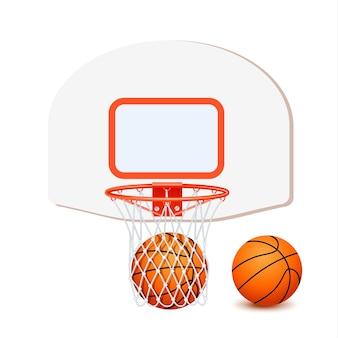 Composição de basquete colorido