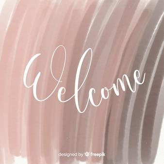 Composição de boas-vindas linda aquarela