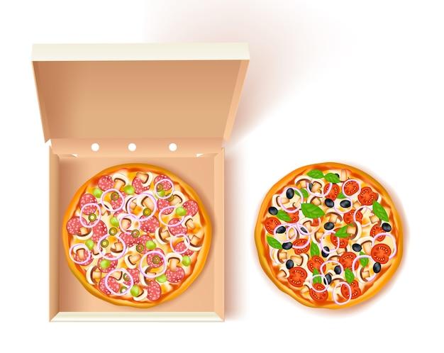 Composição de caixa de pizza