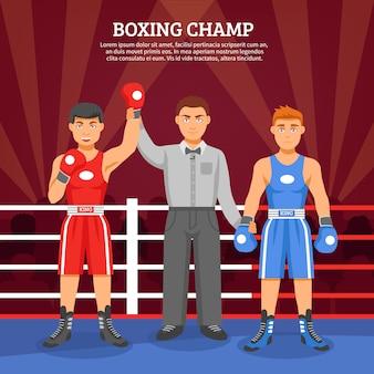 Composição de campeão de boxe