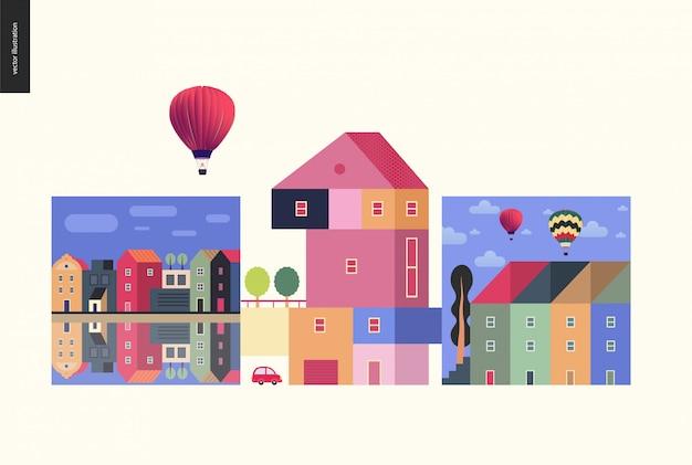 Composição de casas