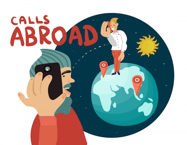 Composição de chamadas no exterior