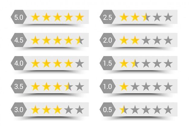 Composição de classificação de cinco estrelas