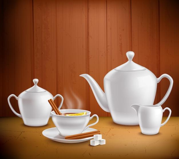 Composição de conjunto de chá