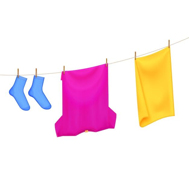 Composição de cores para secar roupa