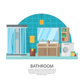 Composição de design de interiores de banheiros