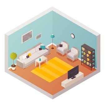 Composição de design de sala de estar
