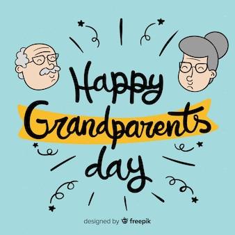 Composição de dia de mão desenhada dos avós