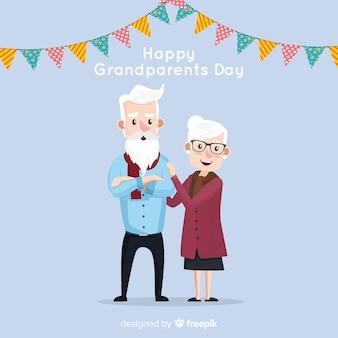 Composição de dia lindo avós com design plano