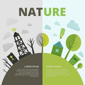Composição de ecologia do planeta
