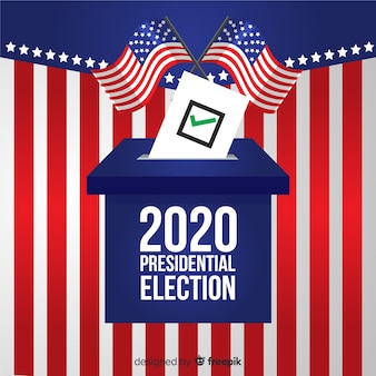 Composição de eleição presidencial com design plano