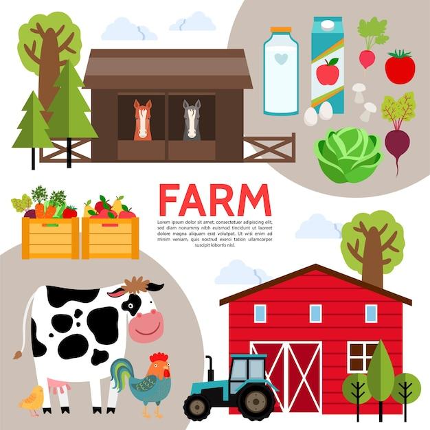 Composição de elementos agrícolas planos