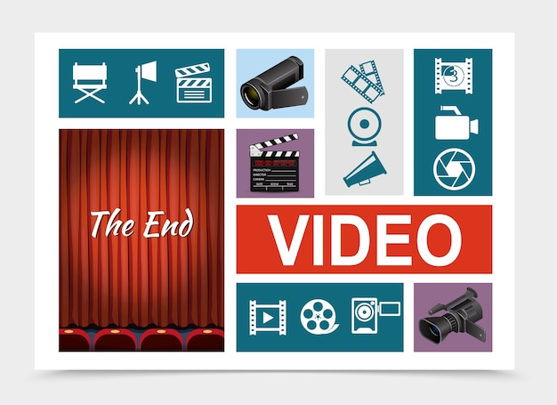 Composição de elementos de cinema