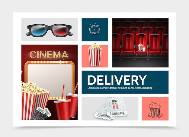 Composição de elementos de cinematografia realista