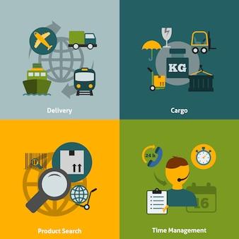 Composição de elementos planos logístico