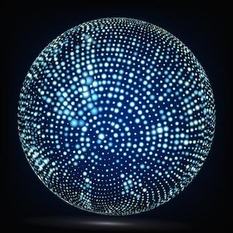 Composição de esfera colorida.