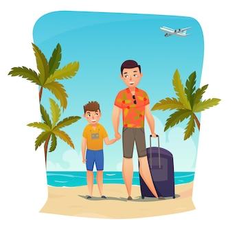 Composição de férias de verão