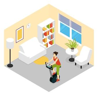 Composição de fitness para sala de estar