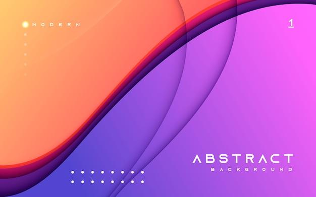 Composição de forma moderna de fundo abstrato colorido