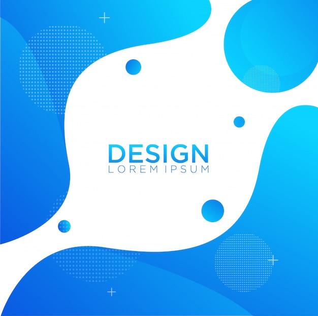 Composição de formas de gradiente fluida líquido cor fundo design