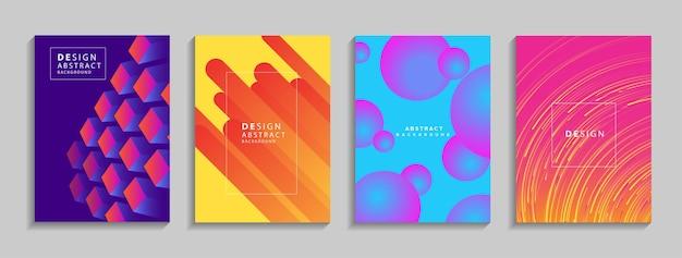Composição de formas fluidas de fundo abstrato geométrico colorido moderno para cartaz de banner