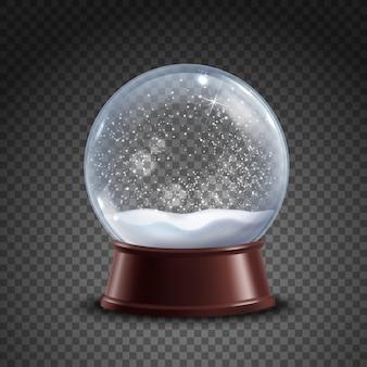 Composição de globo de neve