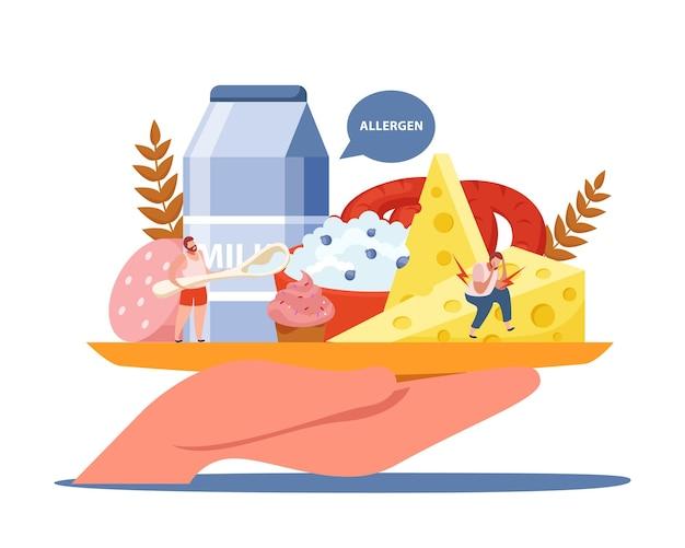 Composição de intolerância à lactose e ao glúten com alérgeno e cuidados de saúde