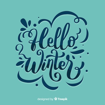 Composição de inverno com linda tipografia