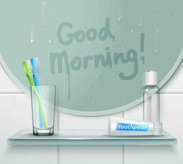Composição de lavagem bom dia