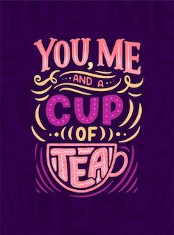 Composição de letras com desenho para café, café ou impressões.