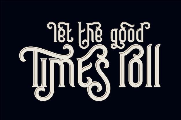 Composição de letras vintage