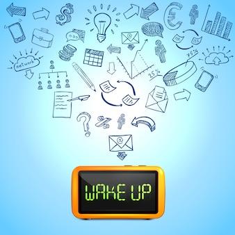 Composição de manhã de negócios