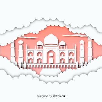 Composição de monumento elegante com design plano