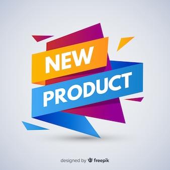 Composição de novo produto colorido com design plano