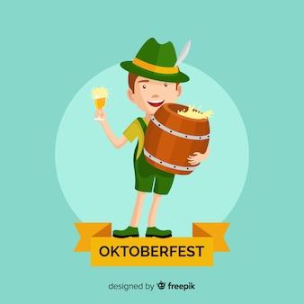 Composição de oktoberfest clássica com design plano