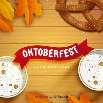 Composição de oktoberfest elegante com design realista