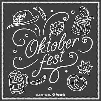 Composição de oktoberfest elegante com estilo de quadro-negro