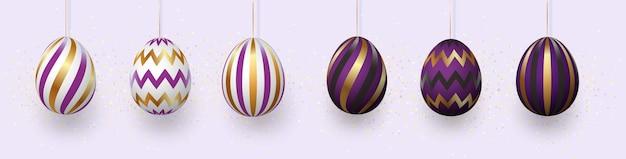 Composição de ovos de páscoa.