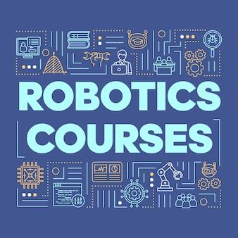 Composição de palavras de cursos robóticos.