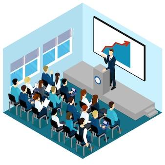 Composição de palestras de treinamento isométrico