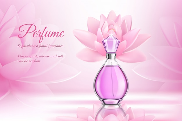 Composição de perfume rosa produto