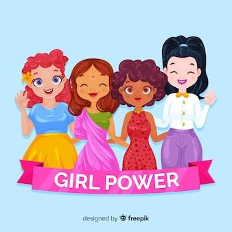 Composição de poder menina moderna
