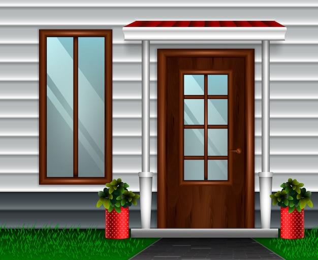 Composição de porta de casa moderna