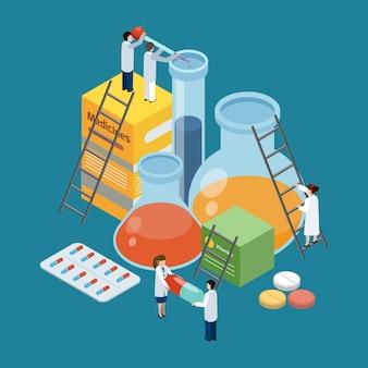 Composição de produção farmacêutica composição isométrica